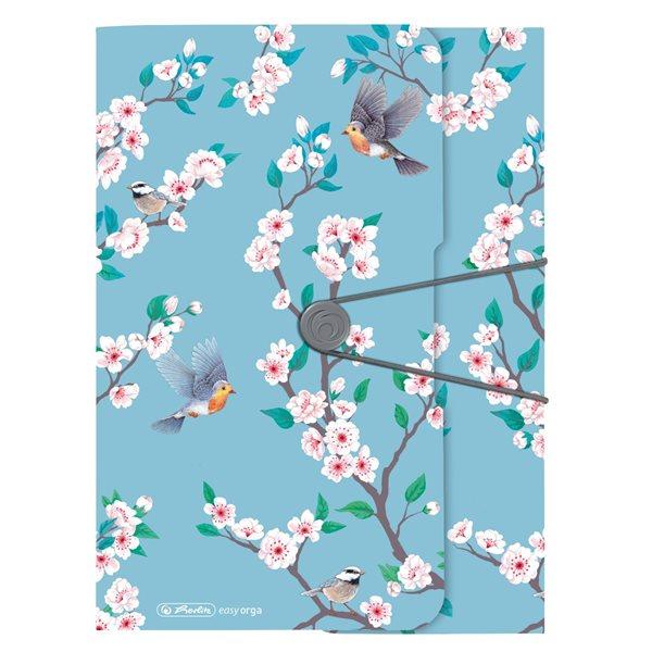 Herlitz Desky s gumou A4 3 klopy Ladylike - ptáčci