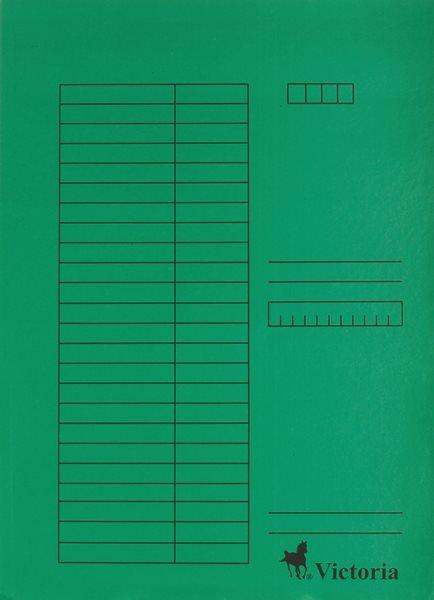 Victoria Desky A4 s chlopněmi 5 ks - zelené