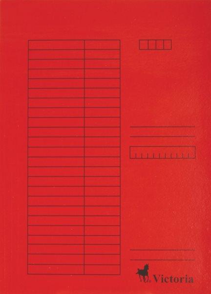 Victoria Desky A4 s chlopněmi 5 ks - červené