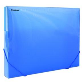 Donau Box na spisy s gumou A4, 3 cm, PP - modrý