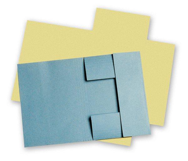 HIT Odkládací mapa A5 tříklopá - žlutá