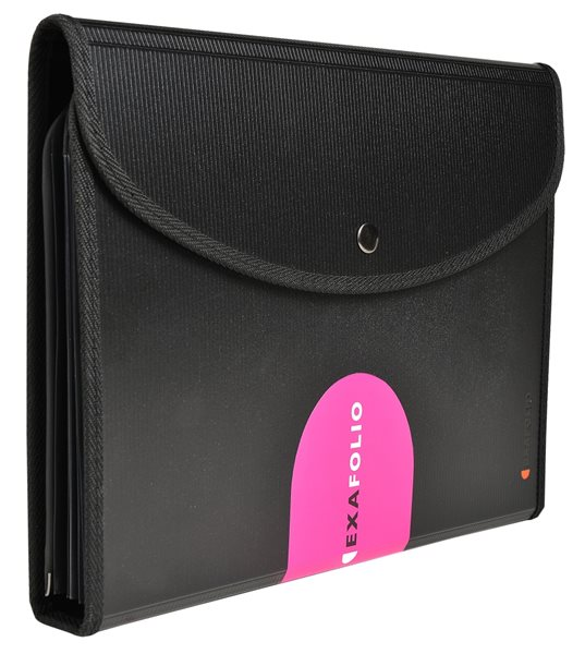 Exafolio - zakládací pouzdro vícedílné, A4, PP, černé
