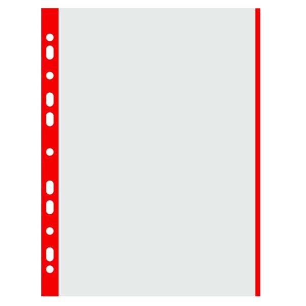 """Donau Zakládací obal """"U"""" A4 s euroděrováním 100 ks matný 40 mic - červený"""