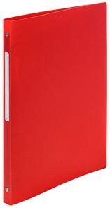 4-Kroužkový pořadač s popisovatelným štítkem, A4, 2 cm, PP - červený
