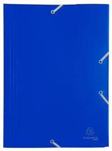 Exacompta Spisové desky s gumičkou A4 maxi, PP - modré
