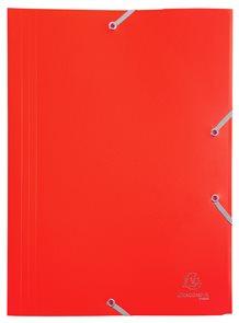 Exacompta Spisové desky s gumičkou A4 maxi, PP - červené