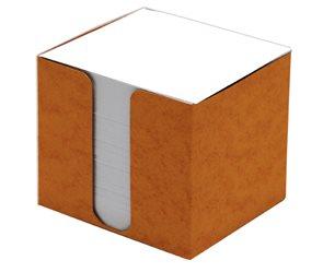 CAESAR OFFICE Špalíček nelepený 8,5x8,5x8 v krabičce - oranžová