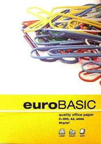 EURO BASIC Kancelářský papír A3 80 g - 500 listů