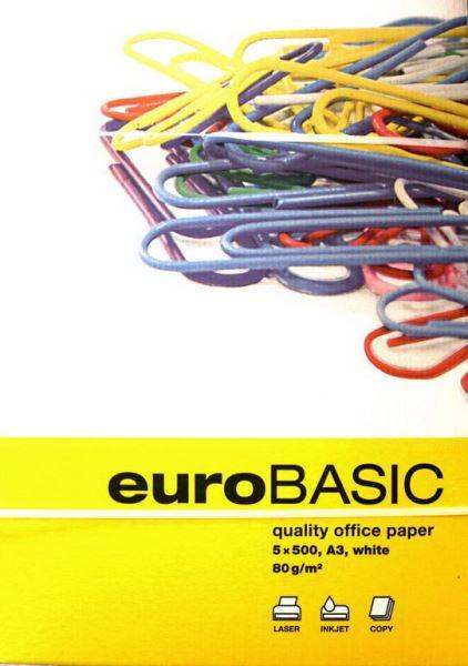 EURO BASIC Kancelářský papír A3 80g - 500listů