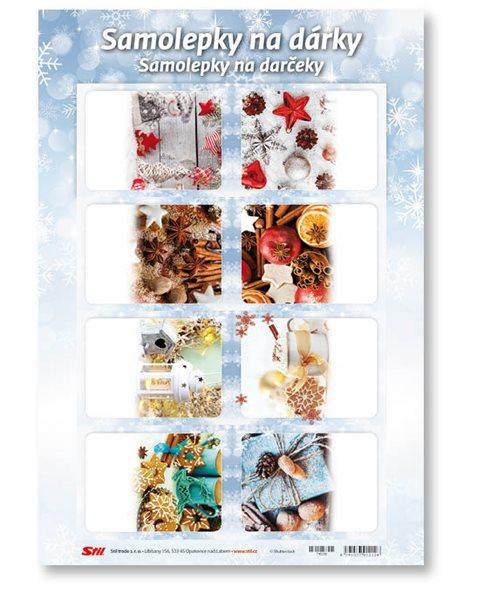 Stil Vánoční samolepky na dárky - mix 1