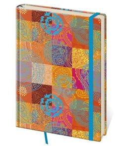 Zápisník Vario 143 x 205 mm tečkovaný - patchwork