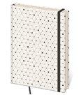 Zápisník Vario 120 x 265 mm tečkovaný - bílý/černé tečky
