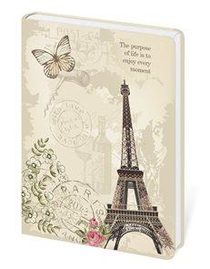 Zápisník Lyra linkovaný M, 13 x 19 cm - Paris/Paříž