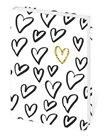 Zápisník Lyra linkovaný M, 13 x 19 cm - Love/srdíčka