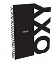 Kroužkový blok A4 - OXY černá