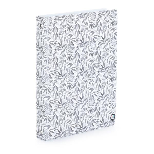Karis blok A5, PVC - white leaves