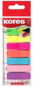 Kores Neonové záložky Index Strips na pravítku 45 × 12 mm, 8 barev