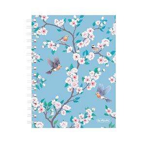 Herlitz Spirálový blok A5/100 listů čtvereček Ladylike ptáčci