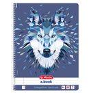 Herlitz Spirálový blok A4/80 listů linkovaný Wild Animal Vlk