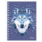 Herlitz Spirálový blok A5/100 listů čtverečkovaný Wild Animal Vlk