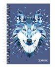 Herlitz Spirálový blok 10 × 14/200 listů čtverečkovaný Wild Animal Vlk