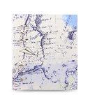 Filofax Clipbook Patterns kroužkový poznámkový blok A5 - Retro map