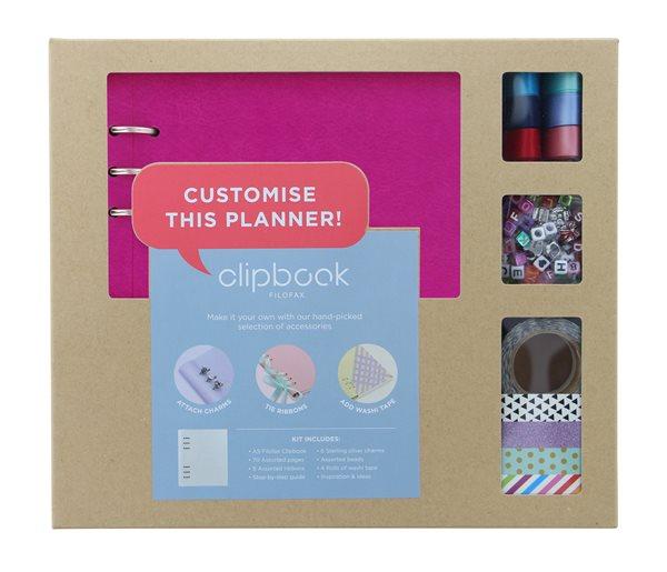 Filofax Clipbook A5 kreativní set - fuchsiová