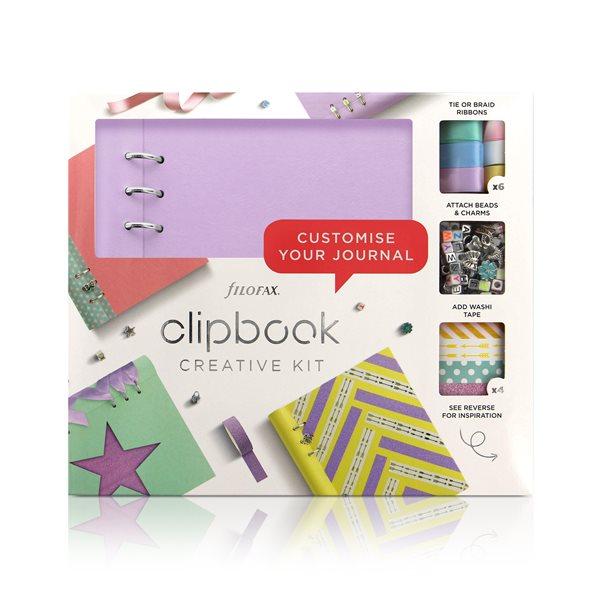 Filofax Clipbook A5 kreativní set - pastel. fialová