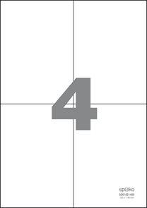 Spoko Samolepicí etikety A4 100 listů - 105 × 148 mm