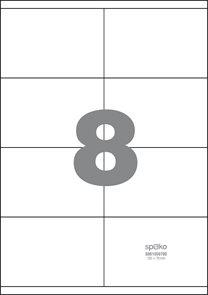 Spoko Samolepicí etikety A4 100 listů - 105 × 70 mm