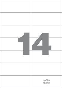Spoko Samolepicí etikety A4 100 listů - 105 × 42,3 mm