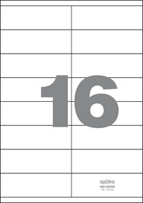 Spoko Samolepicí etikety A4 100 listů - 105 × 35 mm