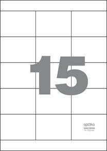Spoko Samolepicí etikety A4 100 listů - 70 × 50,8 mm