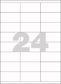 Spoko Samolepicí etikety A4 100 listů - 70 × 36 mm