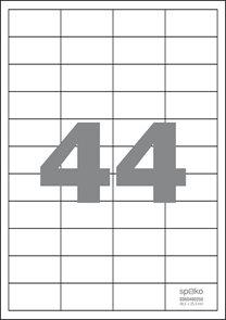 Spoko Samolepicí etikety A4 100 listů - 48,5 × 25,4 mm