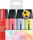 STABILO BOSS ORIGINAL Pastel Zvýrazňovač - sada 4 barev (nové barvy)