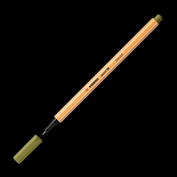 STABILO point 88 Jemný liner - matná zelená
