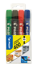 Pilot 400 Permanentní popisovač seříznutý hrot - sada 4 barev
