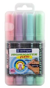 Centropen Zvýrazňovač HIGHLIGHTER FLEXI 8542/4 - sada 4 pastelových barev