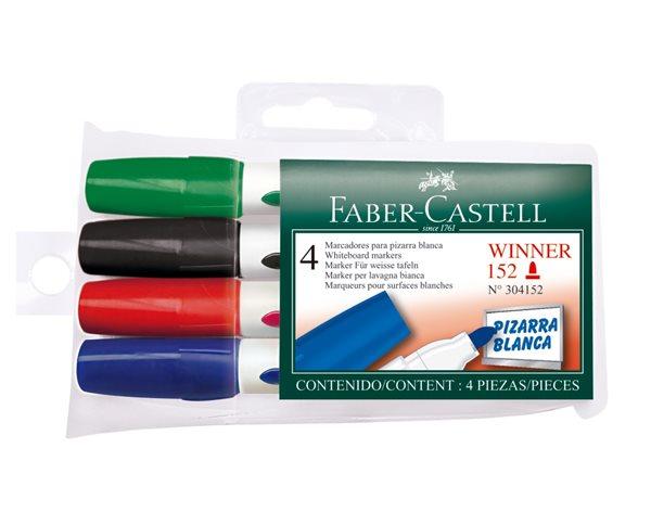 Popisovač na bílé tabule Faber-Castell WBM Winner 152 - sada 4ks