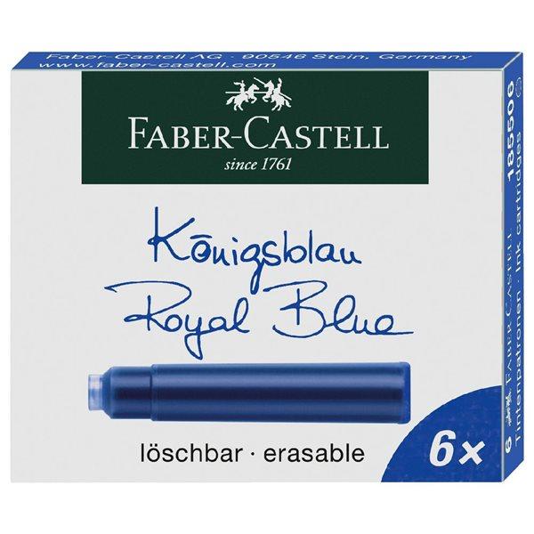 Inkoustové bombičky Faber-Castell 6 ks - modrá