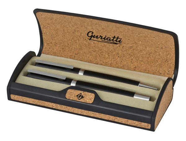 Guriatti DARIO Dárková psací sada kuličkové+plnicí pero - černé