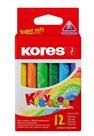 Kores Trojhranné voskové pastelky Krayones - 12 barev