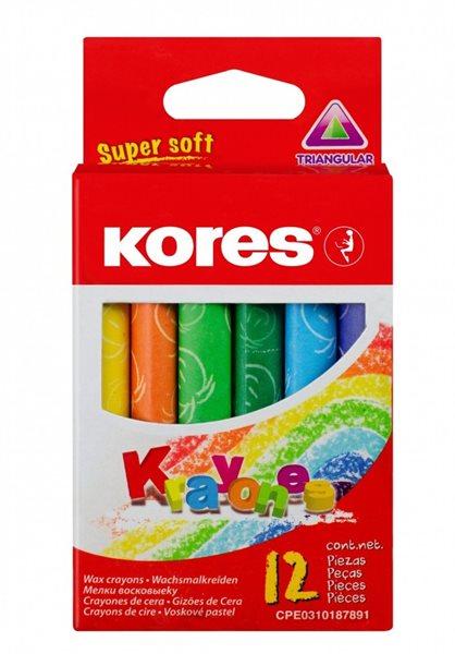 Kores Krayones voskové pastelky trojhranné - 12ks
