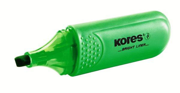 Kores Zvýrazňovač Bright Liner - zelený