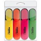 Kores Zvýrazňovač Bright Liner - sada 4 barev