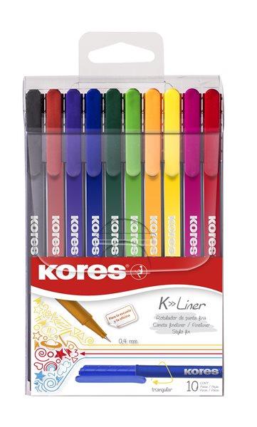 Kores K-Liner 0,4 mm - sada 10 barev