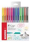 Kores K-Liner 0,4 mm - sada 12 barev