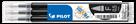 Pilot FriXion Ball 05 Náplň sada 3 ks - černá