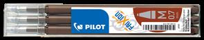 Pilot FriXion Ball 07 Náplň sada 3 ks - hnědá